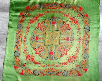 Vintage green Vintage scarf green scarf
