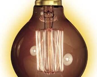 E27 40W Gold Tinted 80mm Globe Squirrel Filament Bulb