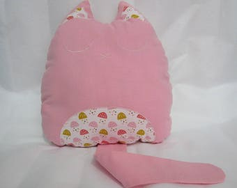 Blanket/toy in pink cotton fabric