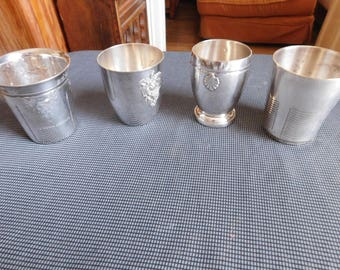 suite of  five eggcupssolid silver  106.96 grams