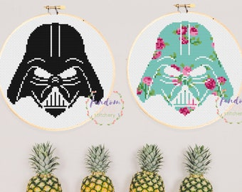 Darth Vader Cross Stitch PDF Pattern, Star Wars Cross Stitch Pattern, Geeky Cross Stitch Pattern