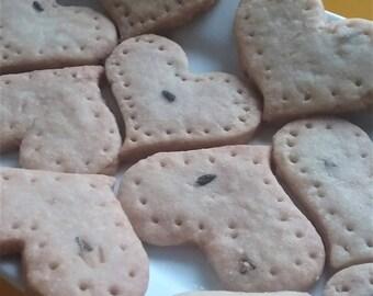 Lavender Shortbread Patchwork Hearts