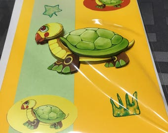 The turtle 3D card