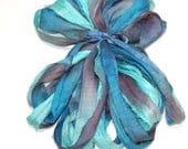 5 & 10YD. WAVE RUNNER Sari Silk Ribbon Bundle//Dyed Silk Sari Ribbon Bundle//Sari Tassels,Sari Wall Decor,Sari Fiber Jewelry,Sari Tapestry