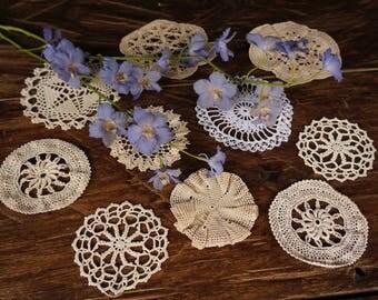 Vintage Crotchet Doilies Coaster Doilies and Wedding doilies Flower doilies Dreamcatcher doilies cotton crotchet doilies Antique centrepiece