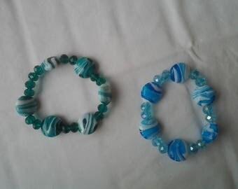-Tone Beads Bracelet