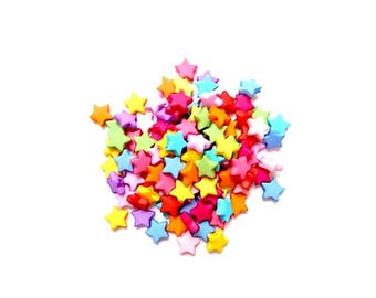 500 beads in Opaque acrylic stars randomly Matte color