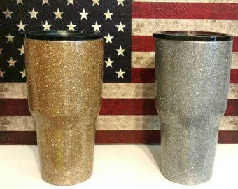 Ozark 30 oz Glitter Dipped Stainless Steel Tumbler Cup