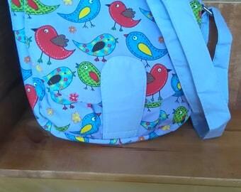 shoulder cross body bag colourful birds