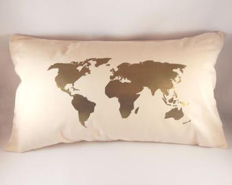 Map Cushion Cover