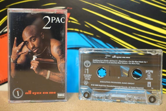 All Eyez On Me by 2Pac Tupac Shakur Vintage (2) both Cassette Tapes