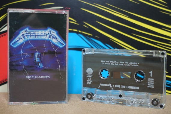Ride The Lightning by Metallica Vintage Cassette Tape
