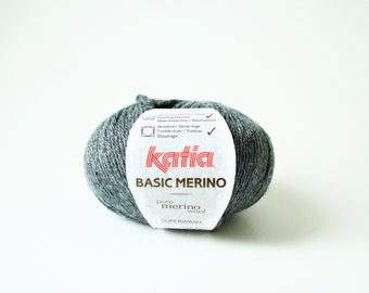 DK Weight, Merino Wool, DK Yarn, Soft, Yarn, Soft Wool, Double Knitting Yarn, Knitting Yarn, Crochet Yarn, Katia Basic Merino Colour 14