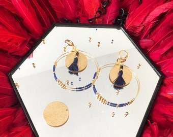 Bobbles and drops earrings