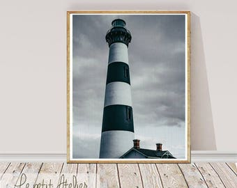 Lighthouse Photography Wall Art Print, Digital Download, Instant download, Printable Large Poster, Coastal Decor, Wall Printable decor