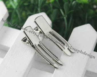 wholeasle 100 Pieces /Lot silver plated 35mm french teeth create Alligator hair clip(#0515)