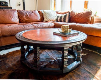 Refinished Round Coffee Table