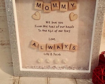 Personalised Mother's Gifts| Scrabble Frame| Mommy Gift| Birthday