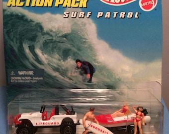 Action Pack Hot Wheels Surf Patrol ~ 1996 Mattell Hot Wheels ~ Surfs Up
