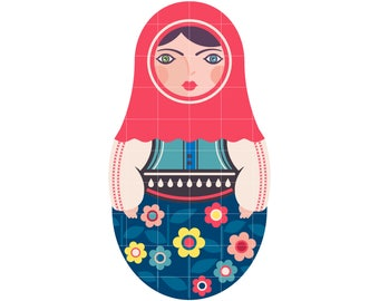 Matryoshka Doll SVG || Matryoshka Doll Silhouette || Matryoshka Doll Cutting File || SVG File || DIY Papercraft || Matryoshka Doll Sticker