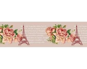 Washi Tape, Masking Tape, tape adhesive scrapbooking SCRAPBERRY's VINTAGE PARIS pink writing