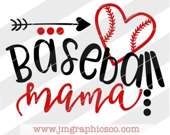 Baseball mama svg, eps, dxf, png, cricut, cameo, scan N cut, cut file, baseball svg, baseball mom svg, baseball mama cut file, baseball mom