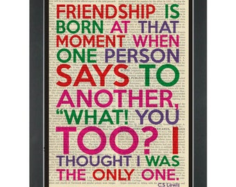 Literary quote CS Lewis Friendship