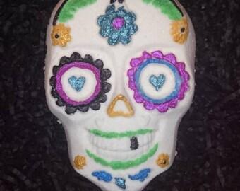 Dead Happy sugar skull -- bath bomb