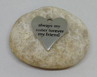 4 Pieces Always My Sister Forever My Friend charm, Sisters charm, Family Charm, Text Charm, Message Charm