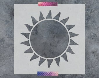 Sun Stencil - Reusable DIY Craft Stencils of the Sun