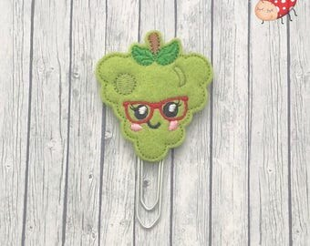 Grapes planner clip, grapes paperclip, Stationery, feltie planner clip, organiser accessories, feltie paperclip, paperclip, planner