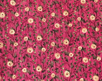 haf meter cotton fabric roses