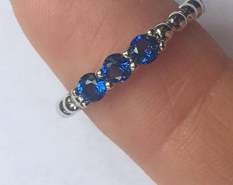 Silver Blues Ring
