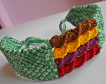 (Adjustable) ethnic woven macrame bracelet