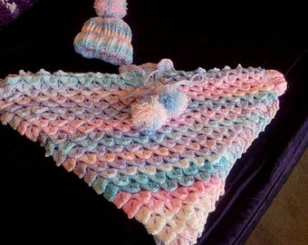 Little girls crocheted poncho