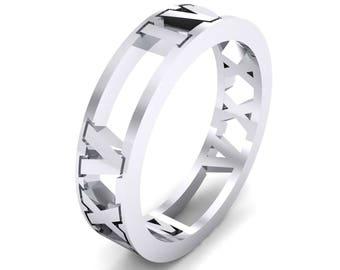 Roman Cutout Ring, Roman Ring, Silver Ring, Silver Jewelry, Jewelry, Gift, Cutout Ring, Fashion Ring, Silver, Ring for Her, Gift for Her