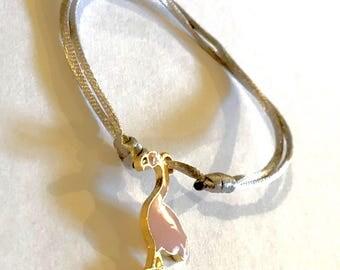 Pink Flamingo adjustable bracelet