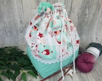 Knitting bag / spider bag (large) - 12.