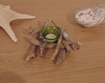 Tealight candle holder Driftwood - to choose from-handmade - deco heater creations flat