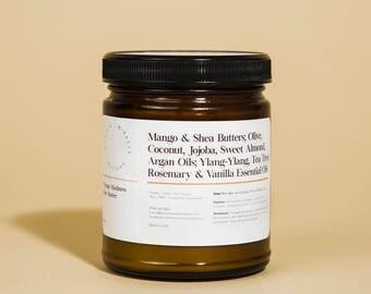Mango, 100% Vegan, All Natural, Organic, Non-GMO, Handmade, Raw Body Butter