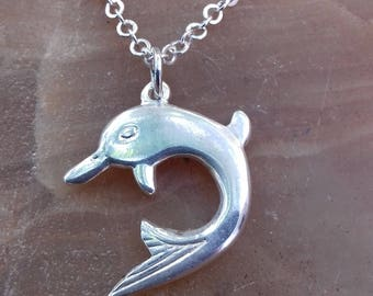 Dolphin pendant silver 925 beautiful dolphin pendant amazing gift man and woman.Jewerllery womens,jewellery mens.pendant gift