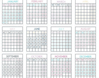 Calender Stickers, Monthly Planner Stickers