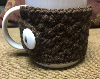 Crochet coffee cozy/coffee cozy/coffee sleeve/mug cozy/stocking stuffer/coffee mug cozy