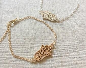 HAMA Hand Bracelet, Silver Bracelet, Gold Bracelet, Bangle, Dainty Bracelet, Delicate Bracelet, Bridesmaid gift, Birthday gift, wedding gift