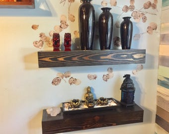Handmade Cedar Floating Shelf