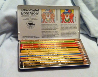 Vintage Faber Castell Goldfaber crayons made in Germany