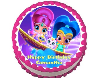 Shimmer and Shine Carpet Ride Edible Cake Topper