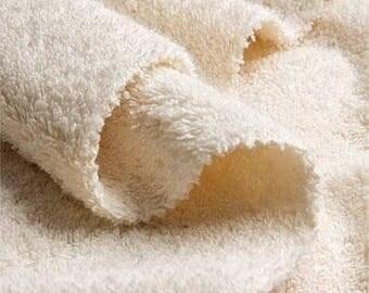 organic COTTON terry (450 g) _ fabric by yard