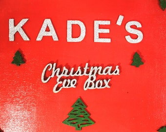 Red Wooden Christmas Eve Box (empty)