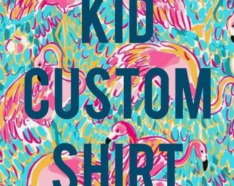 Kid custom shirt. Custom kid shirt.
